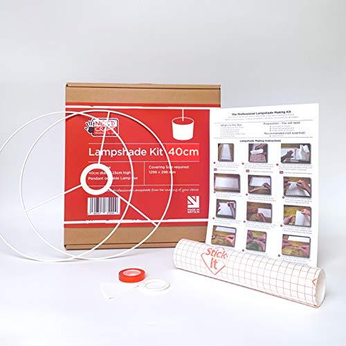 Needcraft DIY Lampshade Kit – 40cm Diameter Easy Drum Lamp Shade Making Kit for Pendants, Floor, Desk & Table Lamps… 2