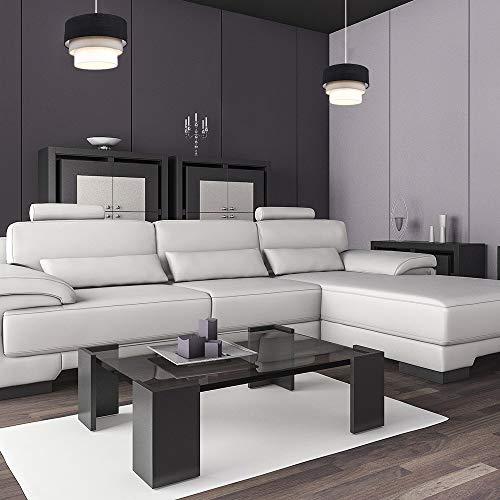 Beautiful Round Modern 3 Tier Black, Grey and White Fabric Ceiling Designer Pendant Lamp Light Shade 3
