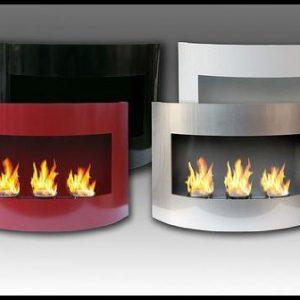Ethanol burning fireplaces