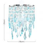 Elegant Chandelier Design Ceiling Pendant Light Shade with Beautiful Teal and Clear Acrylic Jewel Effect Droplets 19