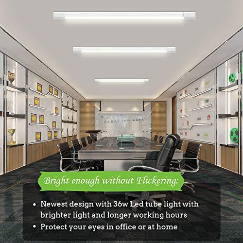 Airand LED Tube Light, 120 cm 4ft 36W LED IP66 Luminaire Workshop Light 4000K Waterproof Ceiling Light Natural White LED… 3
