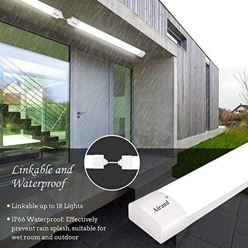 Airand LED Tube Light, 120 cm 4ft 36W LED IP66 Luminaire Workshop Light 4000K Waterproof Ceiling Light Natural White LED… 4