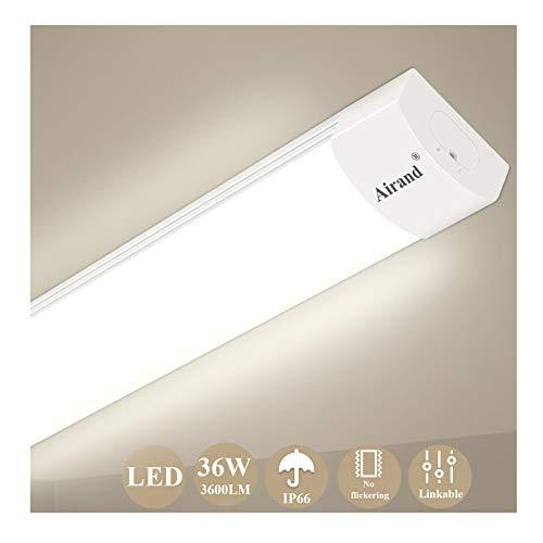 Airand LED Tube Light, 120 cm 4ft 36W LED IP66 Luminaire Workshop Light 4000K Waterproof Ceiling Light Natural White LED… 1