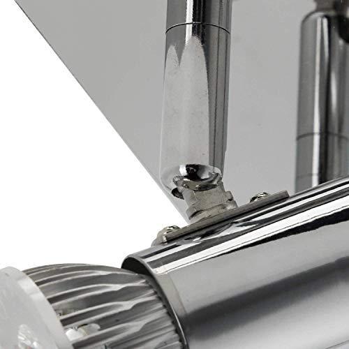 Frideko Modern Ceiling Spots Light - Square Chrome 4 Way Adjustable GU10 Ceiling Spotlight Adjustable LED Pendant… 4