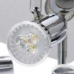 Frideko Modern Ceiling Spots Light - Square Chrome 4 Way Adjustable GU10 Ceiling Spotlight Adjustable LED Pendant… 24