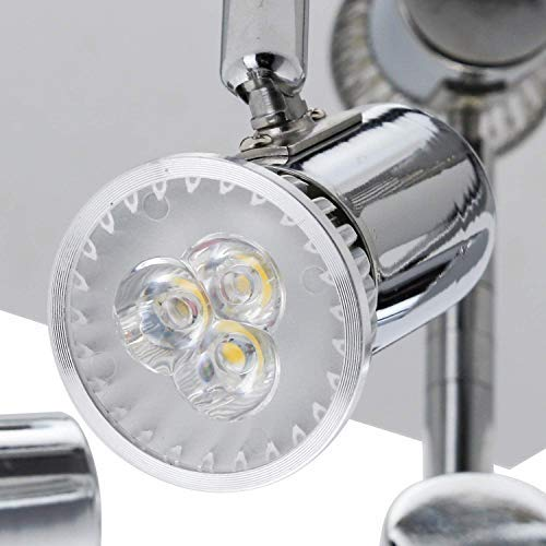 Frideko Modern Ceiling Spots Light - Square Chrome 4 Way Adjustable GU10 Ceiling Spotlight Adjustable LED Pendant… 5