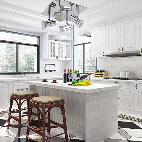 Frideko Modern Ceiling Spots Light - Square Chrome 4 Way Adjustable GU10 Ceiling Spotlight Adjustable LED Pendant… 7