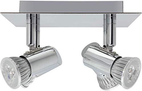Frideko Modern Ceiling Spots Light - Square Chrome 4 Way Adjustable GU10 Ceiling Spotlight Adjustable LED Pendant… 9
