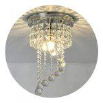 Modern LED Bulb Ceiling Light Pendant Fixture Lighting Crystal Chandelier 16