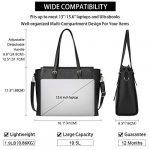 NEWHEY Laptop Bags for women Large Leather Handbags Ladies Laptop Tote Bag Business Work Shoulder Bag lightweight 15.6… 18