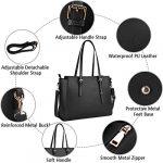 NEWHEY Laptop Bags for women Large Leather Handbags Ladies Laptop Tote Bag Business Work Shoulder Bag lightweight 15.6… 20