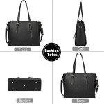 NEWHEY Laptop Bags for women Large Leather Handbags Ladies Laptop Tote Bag Business Work Shoulder Bag lightweight 15.6… 21