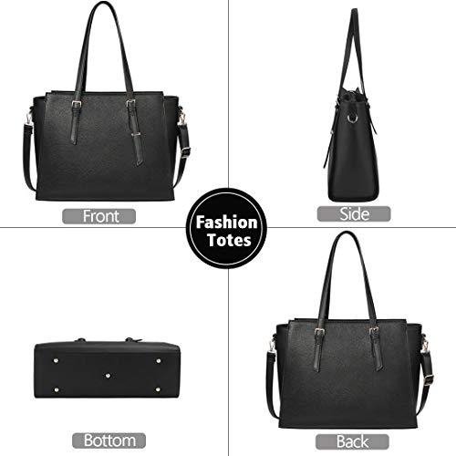 NEWHEY Laptop Bags for women Large Leather Handbags Ladies Laptop Tote Bag Business Work Shoulder Bag lightweight 15.6… 6