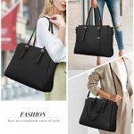 NEWHEY Laptop Bags for women Large Leather Handbags Ladies Laptop Tote Bag Business Work Shoulder Bag lightweight 15.6… 22