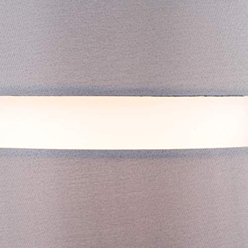 Pair of - Modern 2 Tier Cylinder Ceiling Pendant Light Shades in a Grey Finish - Complete with 10w LED GLS Bulbs [3000K… 8