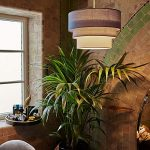 Beautiful Round Modern 3 Tier Black, Grey and White Fabric Ceiling Designer Pendant Lamp Light Shade 39