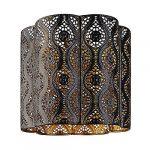 Azalea Chrome Pendant Interior Moroccan Themed Metal Ceiling Light Shade Easy Fit Pendant (Azalea) 8