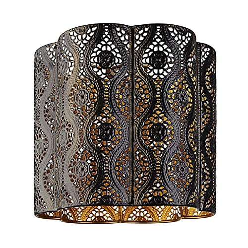 Azalea Chrome Pendant Interior Moroccan Themed Metal Ceiling Light Shade Easy Fit Pendant (Azalea) 3