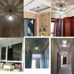 Surpars House Mini Style Crystal Chandelier Pendant Light, White,1-Light 18