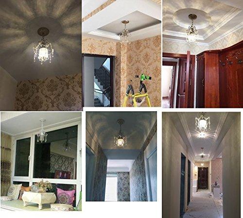 Surpars House Mini Style Crystal Chandelier Pendant Light, White,1-Light 3