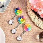 3 Pieces Sunflower Nurse Fob Watch, Hanging Doctor Pocket Watch with Fixed Clip Pin Brooch for Women Doctor Nurse… 20