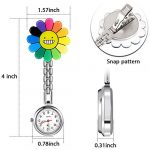 3 Pieces Sunflower Nurse Fob Watch, Hanging Doctor Pocket Watch with Fixed Clip Pin Brooch for Women Doctor Nurse… 22