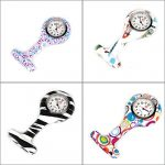 4pcs Silicone Nurse Watch Doctor Medical Staff Lapel Pin-on Brooch Hanging Pocket Fob Watch (1) 22