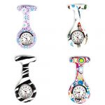 4pcs Silicone Nurse Watch Doctor Medical Staff Lapel Pin-on Brooch Hanging Pocket Fob Watch (1) 21