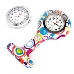4pcs Silicone Nurse Watch Doctor Medical Staff Lapel Pin-on Brooch Hanging Pocket Fob Watch (1) 26