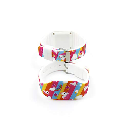 AIUIN 1X Boys Girls LED Sport Watch Child Casual Smart Watch Silicone Rainbow Unicorn Pattern Student Gift Wrist… 3