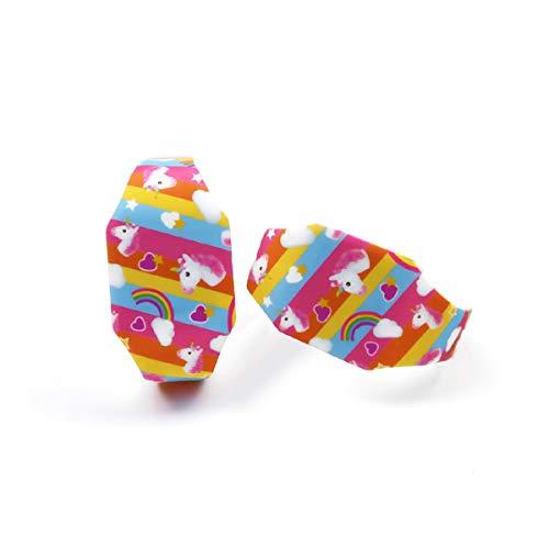 AIUIN 1X Boys Girls LED Sport Watch Child Casual Smart Watch Silicone Rainbow Unicorn Pattern Student Gift Wrist… 5