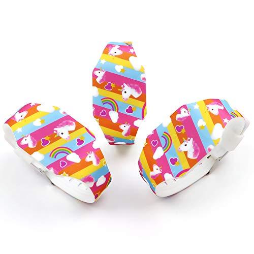 AIUIN 1X Boys Girls LED Sport Watch Child Casual Smart Watch Silicone Rainbow Unicorn Pattern Student Gift Wrist… 6