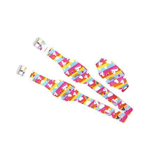 AIUIN 1X Boys Girls LED Sport Watch Child Casual Smart Watch Silicone Rainbow Unicorn Pattern Student Gift Wrist… 7