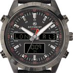 Accurist Watches For Men Stainless Steel Japanese Quartz Sports Chronograph Watch, World Time, Alarm, 99 year Calendar… 27