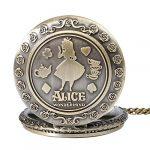 Alice in Wonderland Themed 3D Bronze Effect Women's Quartz Pocket Watch Necklace for Women Girls Mum Sister Teens - On… 18
