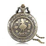 Alice in Wonderland Themed 3D Bronze Effect Women's Quartz Pocket Watch Necklace for Women Girls Mum Sister Teens - On… 17