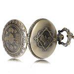 Alice in Wonderland Themed 3D Bronze Effect Women's Quartz Pocket Watch Necklace for Women Girls Mum Sister Teens - On… 20
