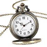Alice in Wonderland Themed 3D Bronze Effect Women's Quartz Pocket Watch Necklace for Women Girls Mum Sister Teens - On… 22