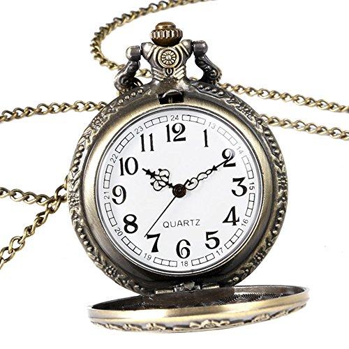 Alice in Wonderland Themed 3D Bronze Effect Women's Quartz Pocket Watch Necklace for Women Girls Mum Sister Teens - On… 7