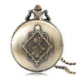 Alice in Wonderland Themed 3D Bronze Effect Women's Quartz Pocket Watch Necklace for Women Girls Mum Sister Teens - On… 23