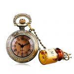 Alice in Wonderland Themed 3D Bronze Effect Women's Quartz Pocket Watch Necklace for Women Girls Mum Sister Teens - On… 24