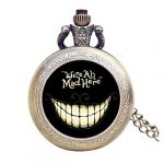 Alice in Wonderland Themed 3D Bronze Effect Women's Quartz Pocket Watch Necklace for Women Girls Mum Sister Teens - On… 26