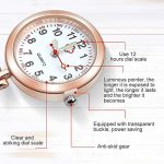 Anpro Nurse Watch,3pcs Silver/Rose Gold/Gold Fob Watch for Nurses and Doctors,Daily Waterproof 19