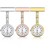 Anpro Nurse Watch,3pcs Silver/Rose Gold/Gold Fob Watch for Nurses and Doctors,Daily Waterproof 17