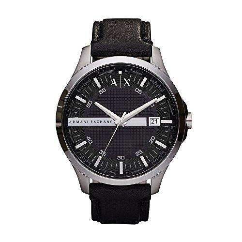 Armani Exchange Men's Analog Quartz Watch with Leather Strap AX2101 1