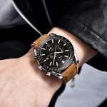 BY BENYAR - Stylish Wrist Watch for Men, Genuine Leather Strap Watches, Perfect Quartz Movement, Waterproof and Scratch… 19