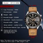 BY BENYAR - Stylish Wrist Watch for Men, Genuine Leather Strap Watches, Perfect Quartz Movement, Waterproof and Scratch… 20