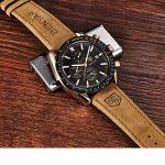 BENYAR Waterproof Chronograph Men Watches Fashion Casual Leather Band Strap Wrist Watch 20