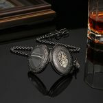 BOSHIYA Mechanical Magnifier Glass Cover Roman Numerals Dial Skeleton Automatic Pocket Watches with Gift Box and Chain… 16