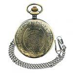 BestFire Pocket Watch Vintage Quartz Pocket Watch Classical Sculptured Fob Pocket Watch with Short Chain for Men Women… 18